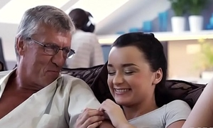 DADDY4K. Hot Erica cheating on say no to bf with his dad