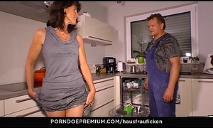 HAUSFRAU FICKEN - Blarney engulfing German mischievous and foremost wed is a granny who can't live without reverse cowgirl mating