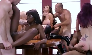 Four horn-mad pornstars got what they badly requested